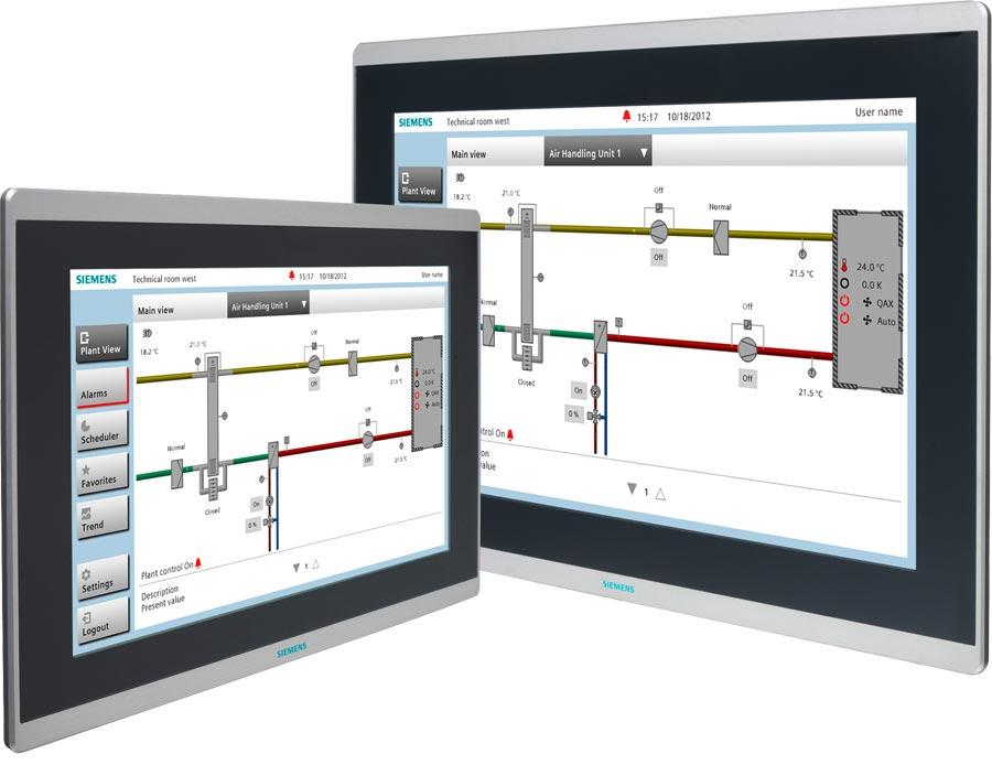 PX Touch and Web, die Bedienoberfläche von Siemens